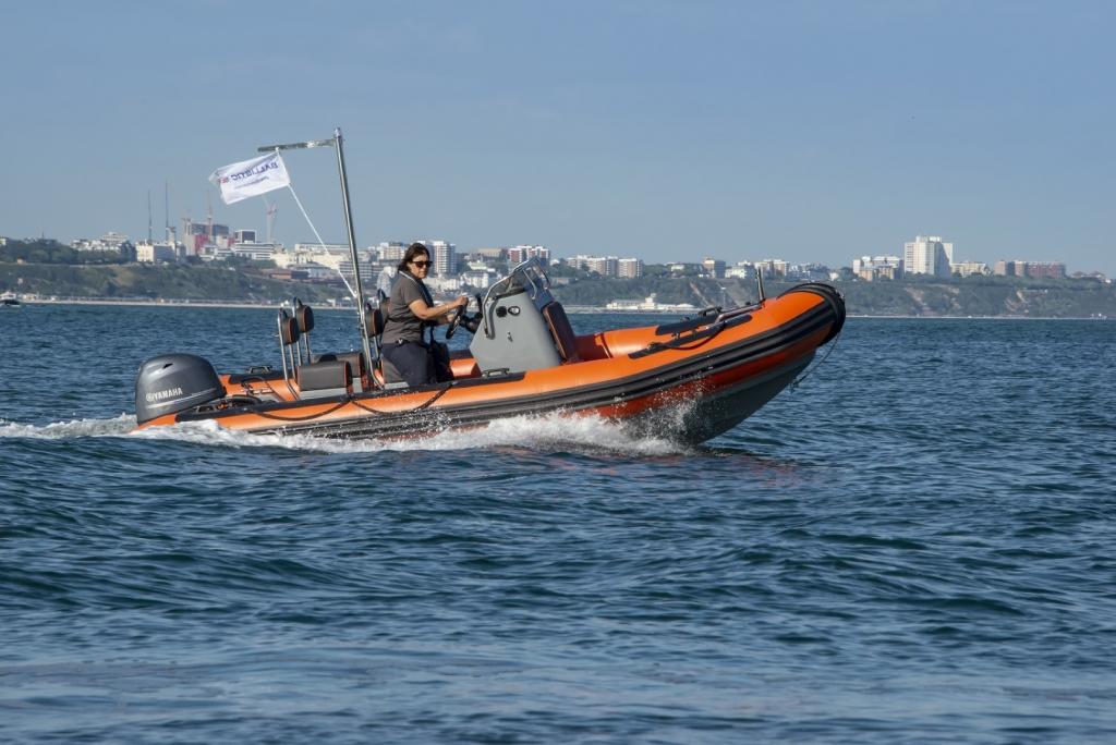 Ballistic 5.5 RIB Launch with Yamaha FT60 engine Poole Beach 4 (Large).jpg
