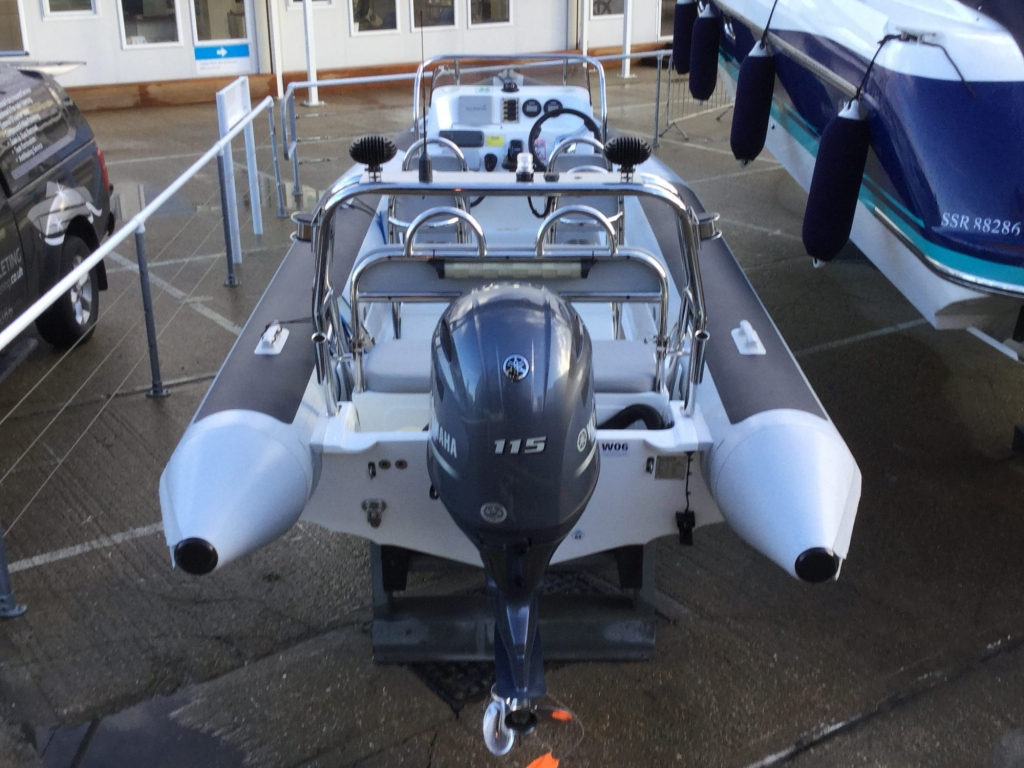 Brokerage - BCT - Ballistic 6m RIB with Yamaha F115BET engine - Aft 3