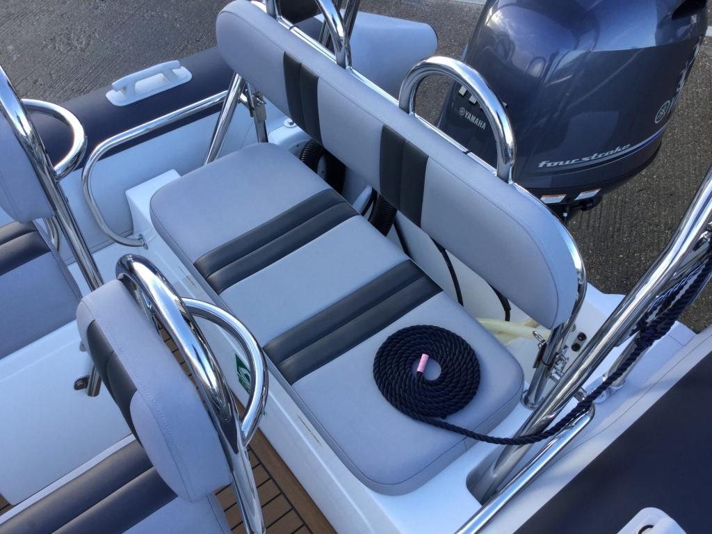 Brokerage - BCT - Ballistic 6m RIB with Yamaha F115BET engine - Rear bench