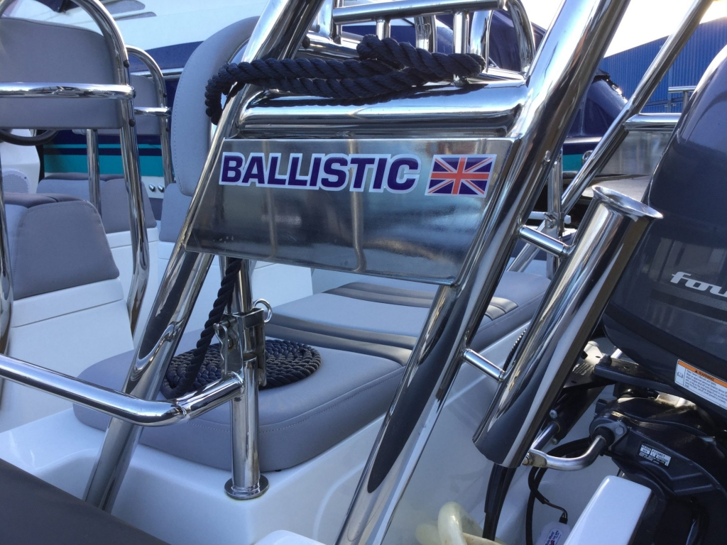 Brokerage - BCT - Ballistic 6m RIB with Yamaha F115BET engine - Rod holder and high cleat