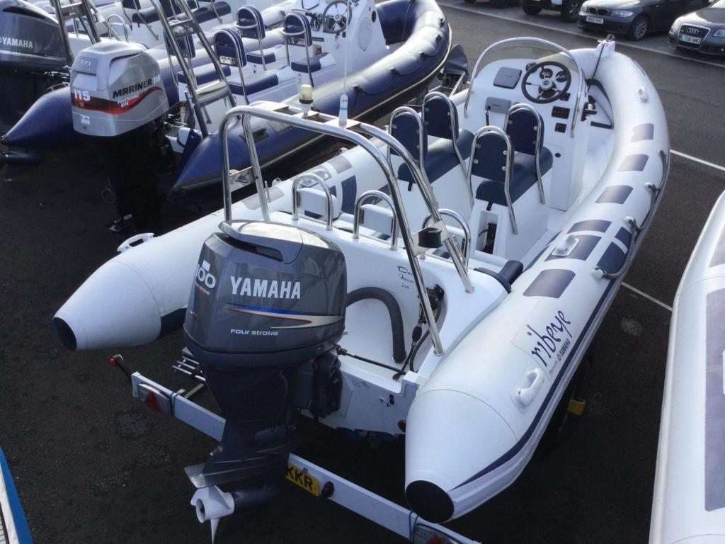 Stock - 1555 - Ribeye A600 RIB with Yamaha F100DET engine and trailer - Aft Strbbrd 1