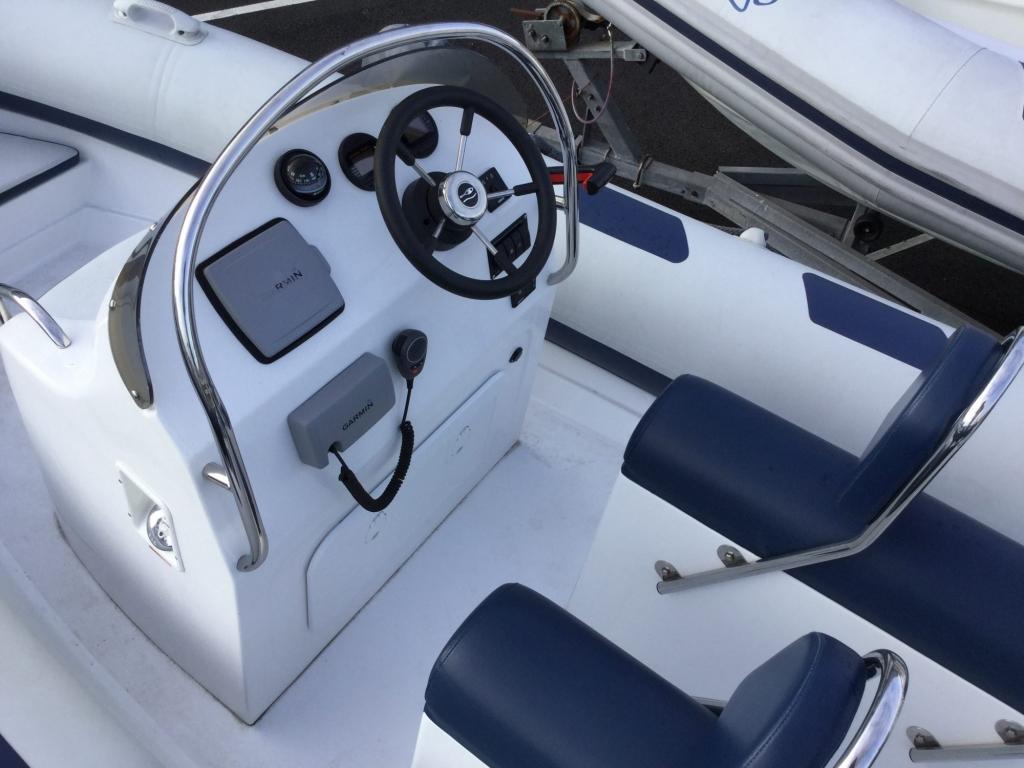 Stock - 1555 - Ribeye A600 RIB with Yamaha F100DET engine and trailer - Helm