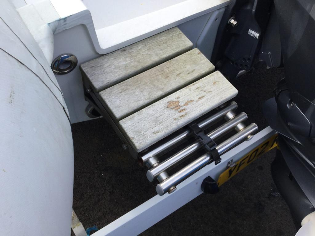 Stock - 1555 - Ribeye A600 RIB with Yamaha F100DET engine and trailer - Ladder
