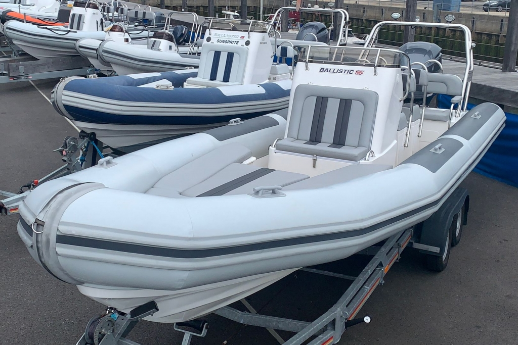 Click to see 2019 Ballistic RIB 7.8 Yamaha F300 with SBS 2600 kg Roller Trailer.
