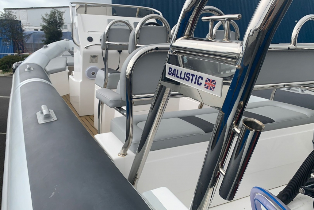 Boat Details – Ribs For Sale - 2019 Ballistic RIB 7.8 Yamaha F300 with SBS 2600 kg Roller Trailer.