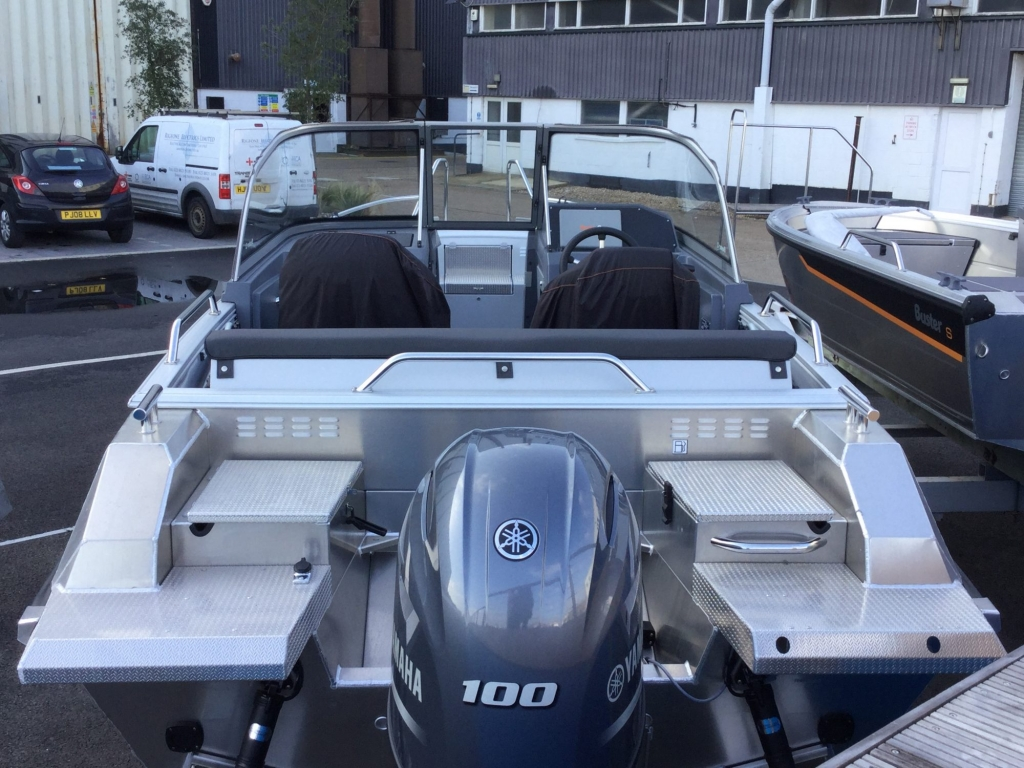 Stock - 1532 - Buster XL Boat with Yamaha F100 engine - Aft 2