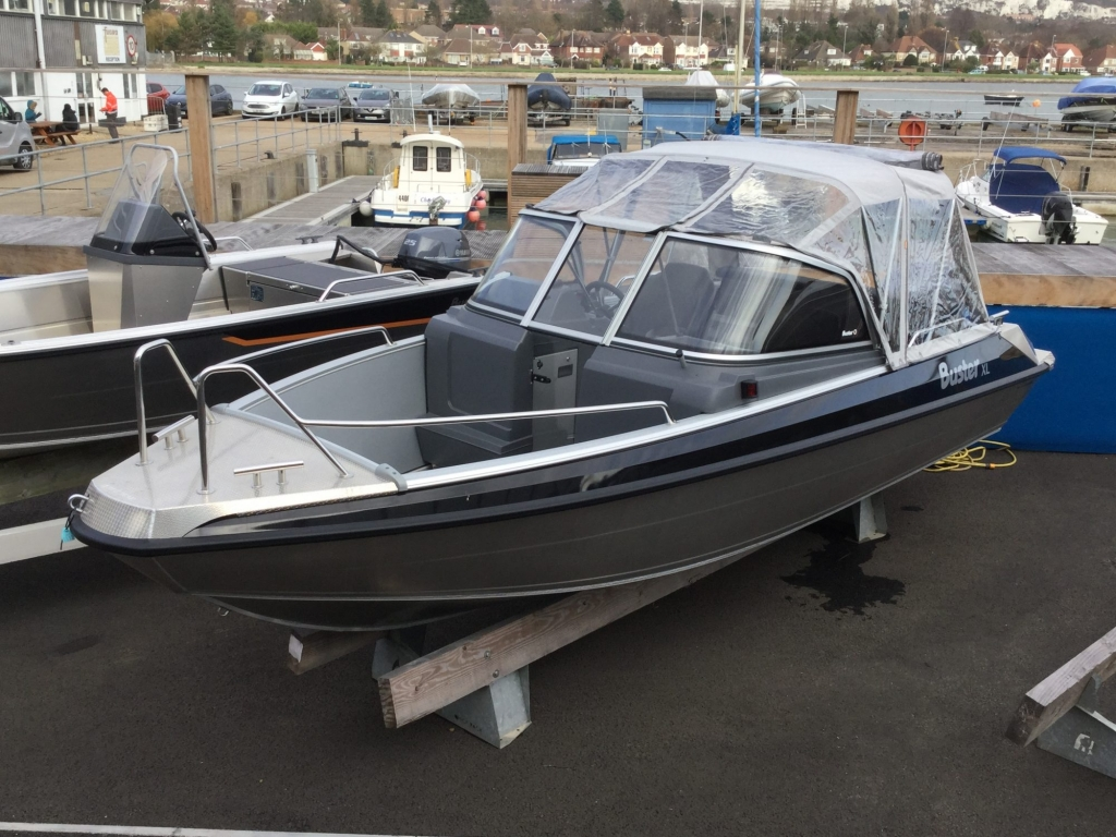 Stock - 1532 - Buster XL Boat with Yamaha F100 engine - Front canopy