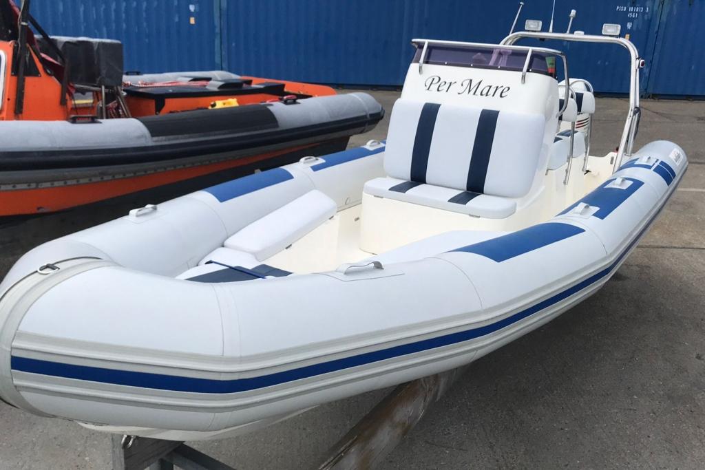 Boat Listing - 2004 Ballistic RIB 650 Sport Johnson 140hp engine