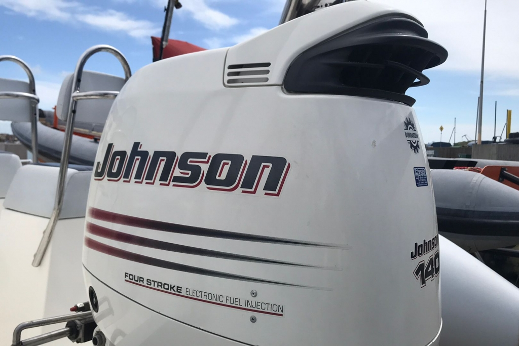 Boat Details – Ribs For Sale - 2004 Ballistic RIB 650 Sport Johnson 140hp engine