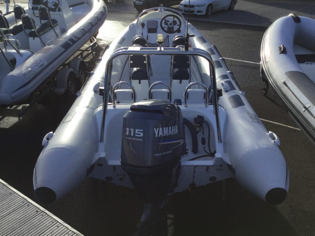 Stock - 1546 - Ribeye A600 RIB with Yamaha F115A engine and trailer - Aft 1