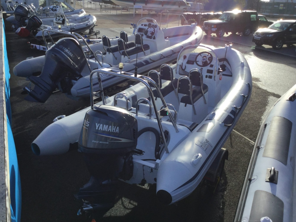 Stock - 1546 - Ribeye A600 RIB with Yamaha F115A engine and trailer - Aft Starboard qtr 2