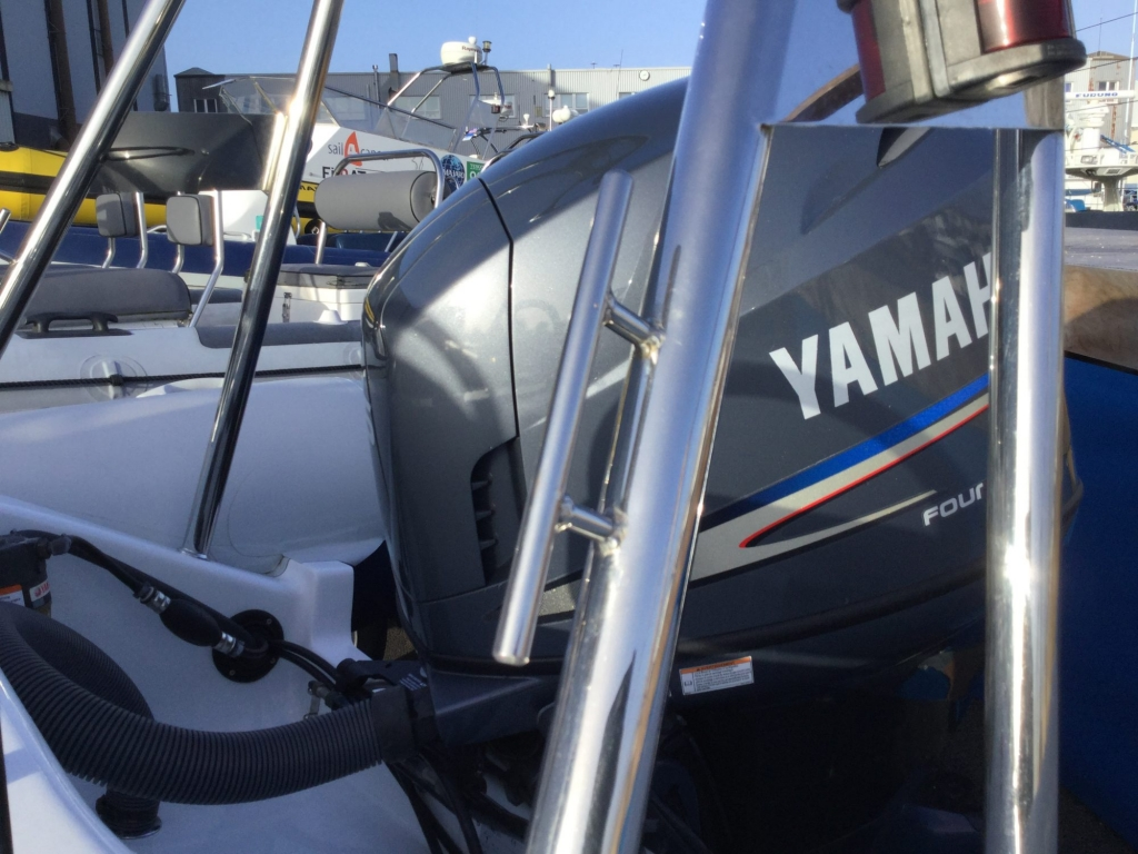 Stock - 1546 - Ribeye A600 RIB with Yamaha F115A engine and trailer - Rear cleat