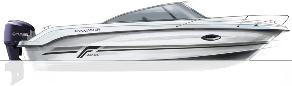 Finnmaster 62 Day Cruiser with Yamaha Outboard Engine - Full boat image
