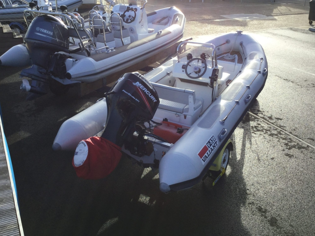 Stock - 1547 - Valiant 520 RIB with Mercury 50hp engine and trailer - Aft Starboard