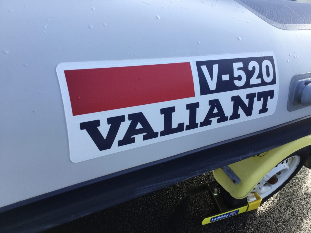 Stock - 1547 - Valiant 520 RIB with Mercury 50hp engine and trailer - Valiant logo