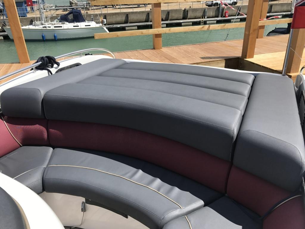 1503 - Hunton 904 RIB with Volvo 370HP Diesel Inboard Engine - stern sun bed area