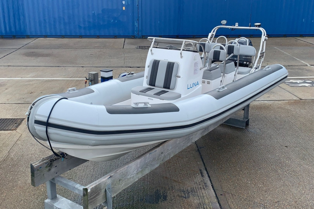 Click to see Used Grand Goldenline 6.5m RIB with Mercury 150HP Outboard Engine