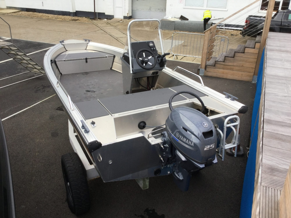 Stock - 1530 - Buster S Boat with Yamaha F25 engine - Aft 1