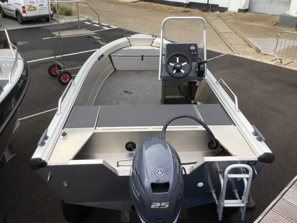 Stock - 1530 - Buster S Boat with Yamaha F25 engine - Aft 2