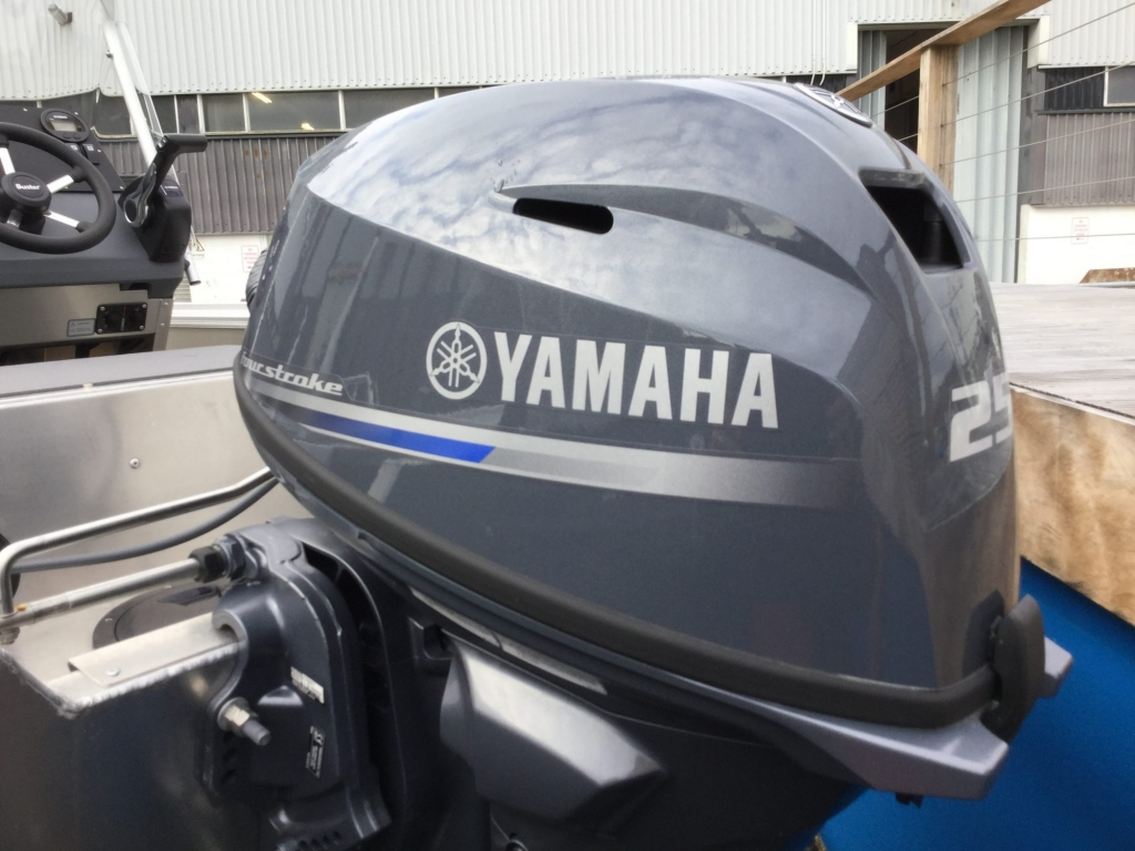 Stock - 1530 - Buster S Boat with Yamaha F25 engine -Engine cowling