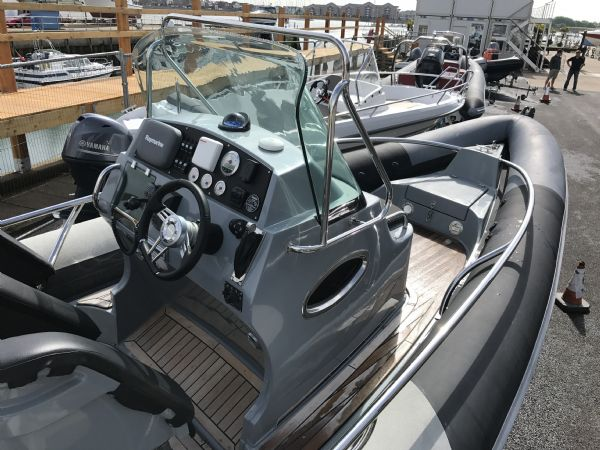 1497 - brokerage - arctic blue 23 rib with yanmar 260hp inboard engine - console and bow_l