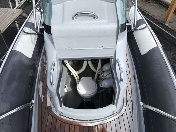 1497 - brokerage - arctic blue 23 rib with yanmar 260hp inboard engine - sea water toilet_l
