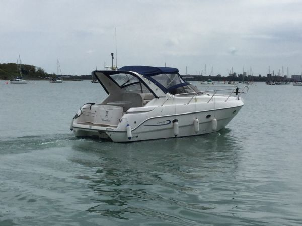 brokerage - 1495 - sessa oyster 30 with twin volvo diesel engines - under way aft_l
