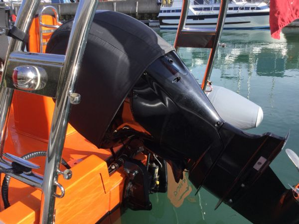 1486 - brokerage - shearwater cutter 6.8 rib with mercury 150 engine - engine_l