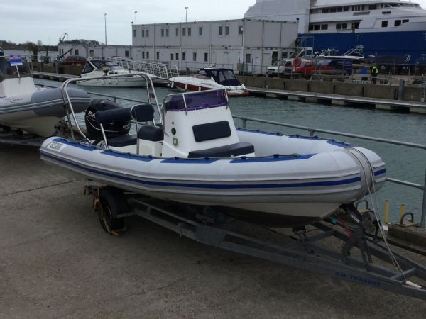 Click to see Used Gemini 6.0m RIB with Evinrude 130HP ETEC Engine