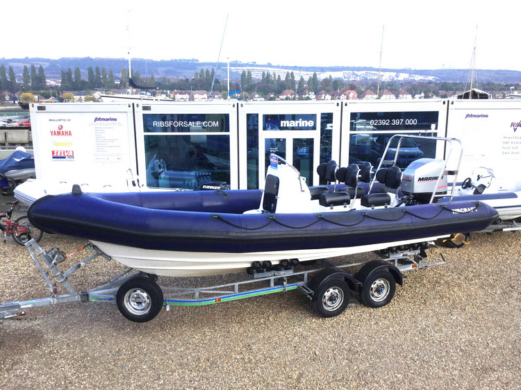 USED RIBCRAFT 6.8M RIB WITH MERCURY OPTIMAX 225HP OUTBOARD ENGINE AND TRAILER