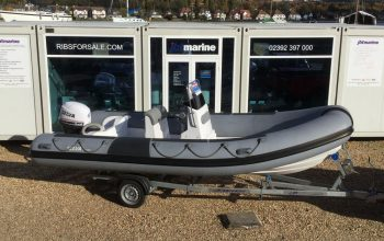 Used Selva 550 RIB with Selva 60HP XSR Ouboard Engine and Trailer