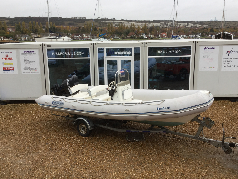 Used Bombard 640 RIB with Suzuki 140HP Outboard Engine and Trailer