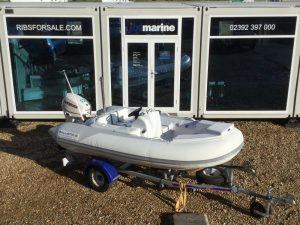 Used Ballistic 3.4M RIB with Evinrude Etec 40HP Outboard Engine and Trailer