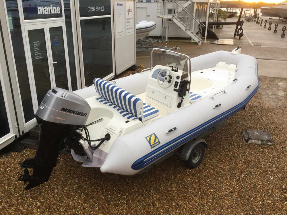Used Zodiac Medline 1 4.8m RIB with Mariner 60HP Outboard Engine and Trailer