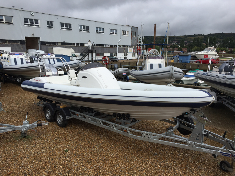Used Renegade 720 RIB with Mariner 150HP Outboard Engine and Trailer