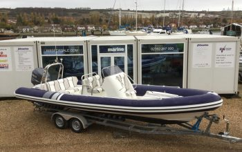 Used Cobra 7.5M RIB with Yamaha F250HP engine and trailer