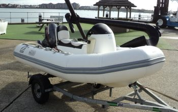 Used Zodiac 3.4M RIB with Yamaha 25HP Two Stroke Engine and Trailer