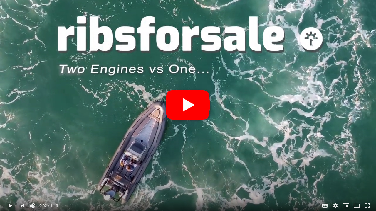 What are the benefits of 2 engines vs 1 on a RIB? - video